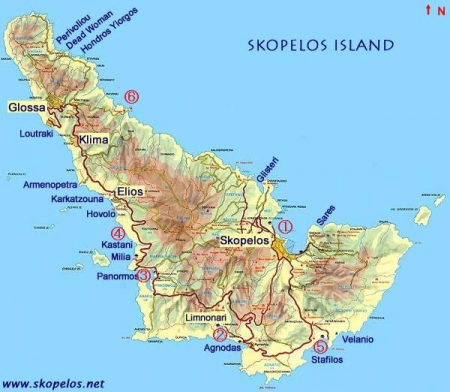 スコペロスビーチ地図