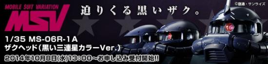 1-35 MS-06R-1A ザクヘッド(黒い三連星カラーVer.)b