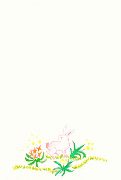 ピンクのウサギ