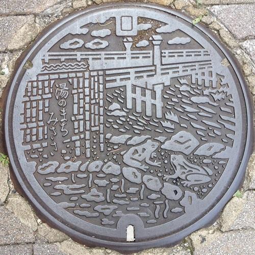 三朝町(鳥取県東伯郡)のマンホール - ぢめんのいりぐち
