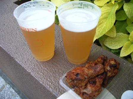 ベアレンビールとタンドリーチキン