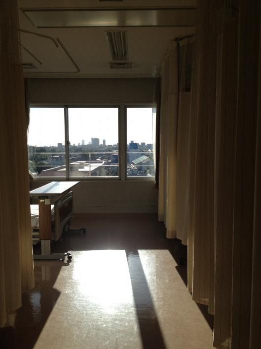病棟からの眺め