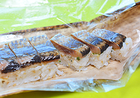 ニシンの燻製の押し寿司