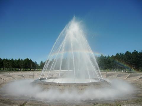 モエレ沼の噴水