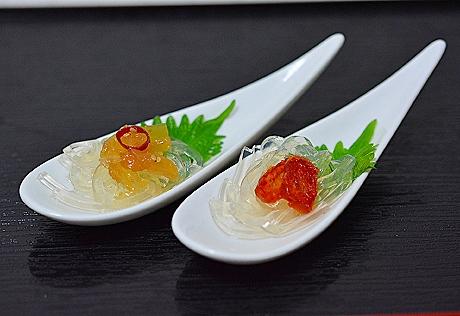 塩トマトと中華クラゲ