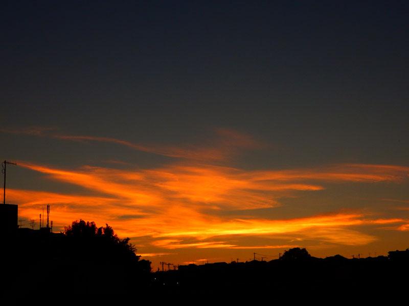 141006きのうの夕焼け2