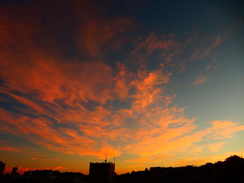 141006きのうの夕焼け1