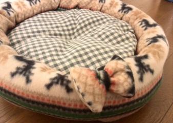 フリース丸ベッド(ノルディック)2