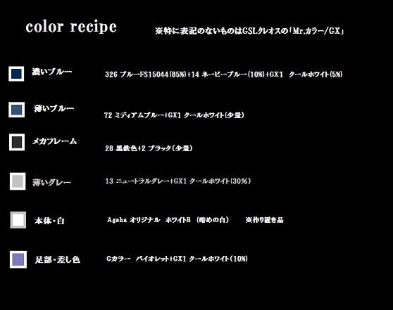 ストアゲ カラーレシピ