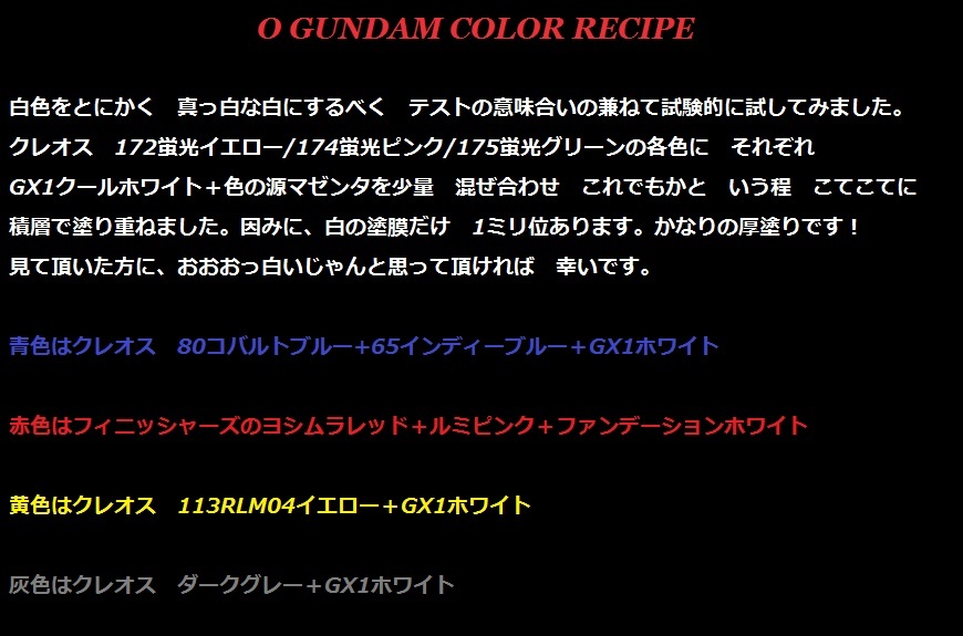 Oガンダム色レシピ