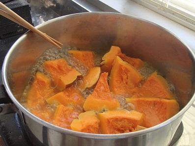 内藤かぼちゃ 加熱