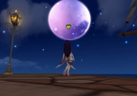月見上げつつ