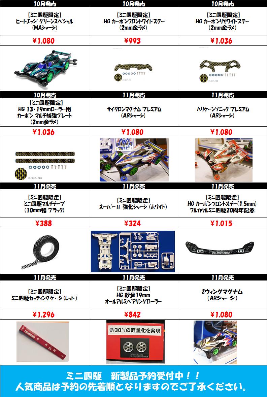 ミニ四駆10-11新製品