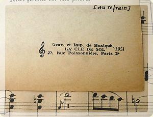 フランス・アンティーク楽譜