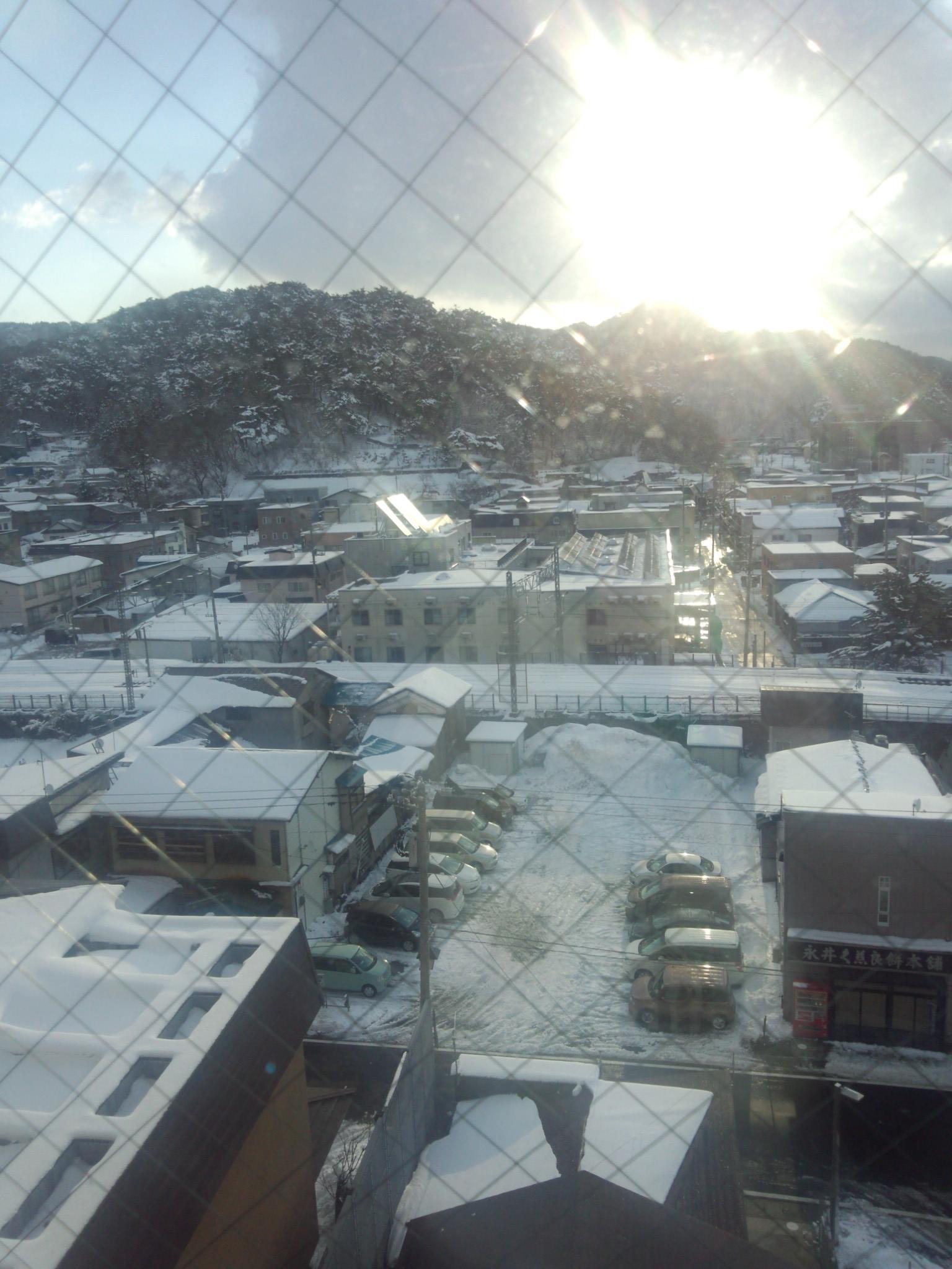 3月でも雪景色です。