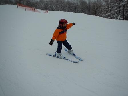 R眞君はスキー