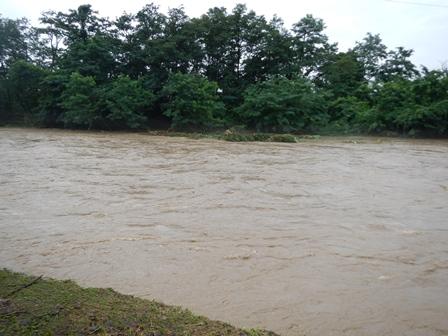 溢れそうな川
