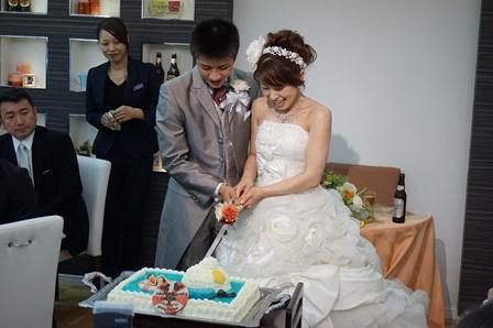 夕方から結婚式