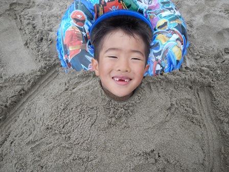 念願の砂埋め
