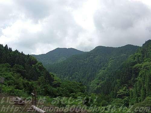ガンドガコバ林道から見た金剛山