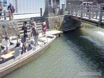 樋橋(じゃあじゃあ橋)の落水