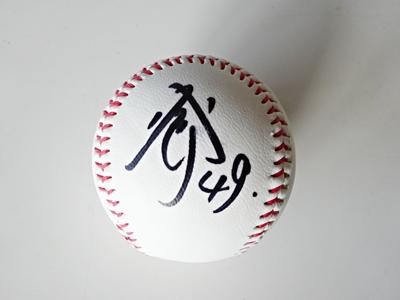 天谷選手のサインボール
