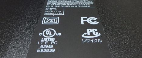 HP Pavilion 500-440jp_リサイクルマーク