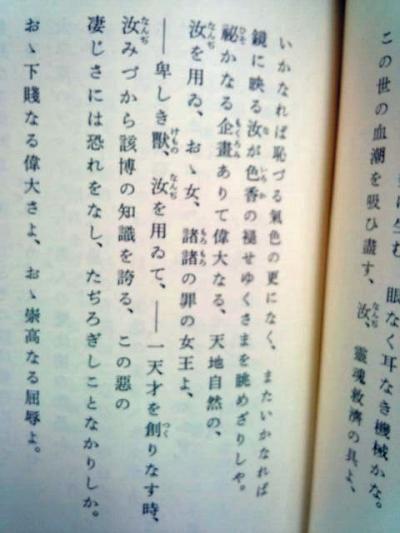 悪の華(日本語訳)