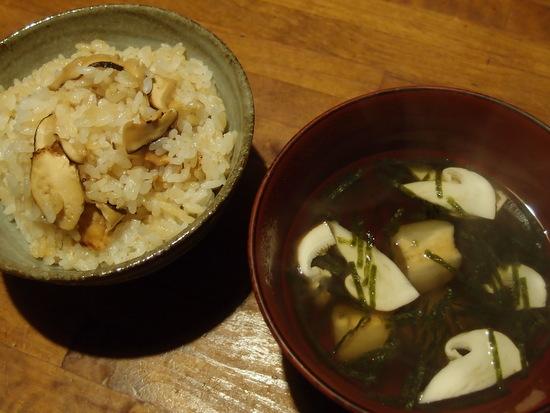 松茸ご飯とお吸い物