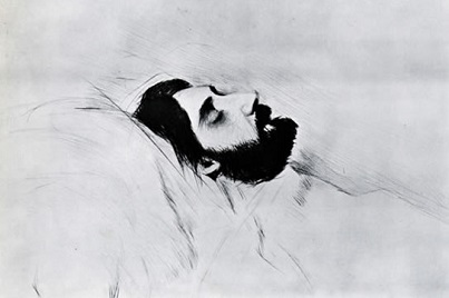 Paul-César Helleu, Marcel Proust sur son lit de mort