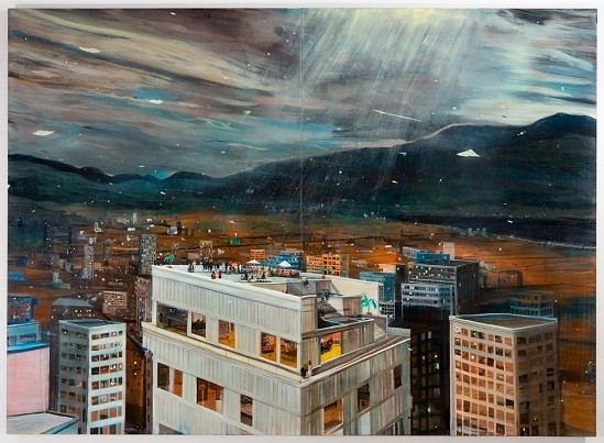 Neither Day or Night, 2011, Oil on panel,