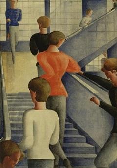 004Oskar Schlemmer,Bauhaus Stairway 1932,MOMA