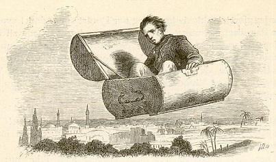 Flying Trunk,Vilhelm Pedersen illustration