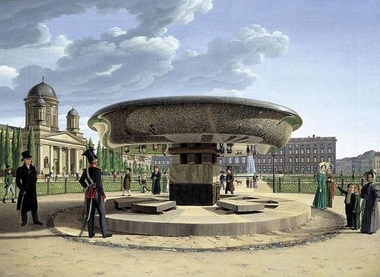 Granitschale im Berliner Lustgarten 1831 Johann Erdmann Hummel