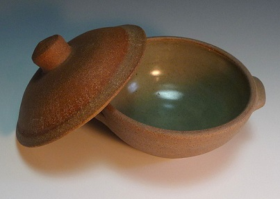 ○Leach Pottery covered soup bowl