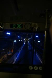 黒部ダムのトロリーバス