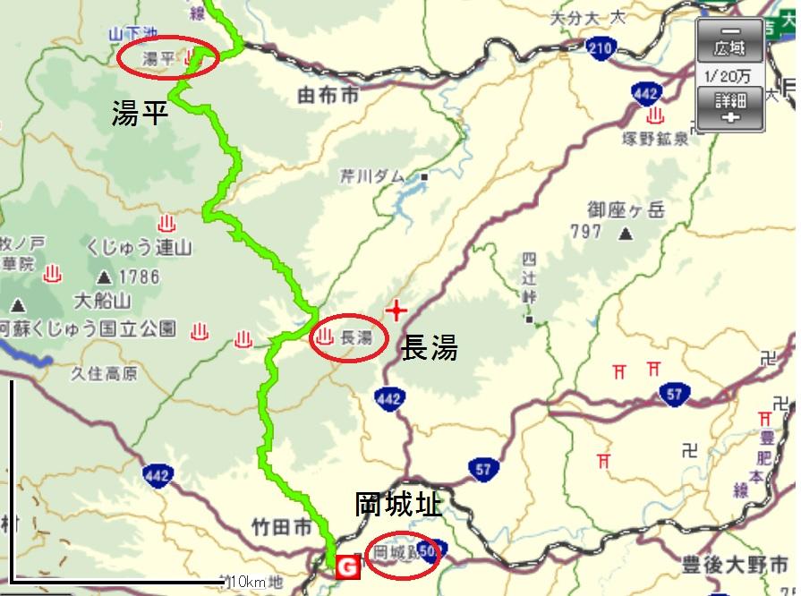 地図長湯竹田市