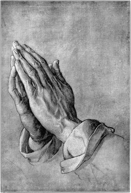 02-Hands of an apostle 素描(筆画) 1508年