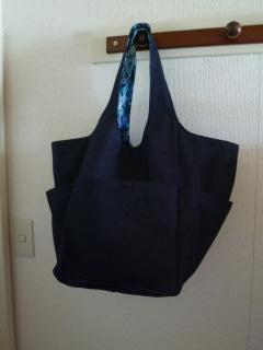 青いバラ・ママバッグ・ポケット
