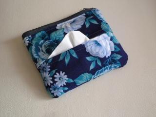 青いバラ・ティッシュケース