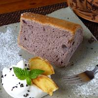 紫芋のシフォン