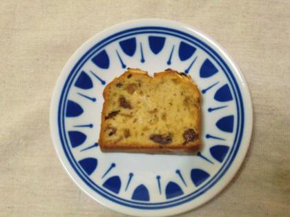 2014.1 モノマルシェ ワタリドリ8 洋酒漬けフルーツのパウンドケーキ