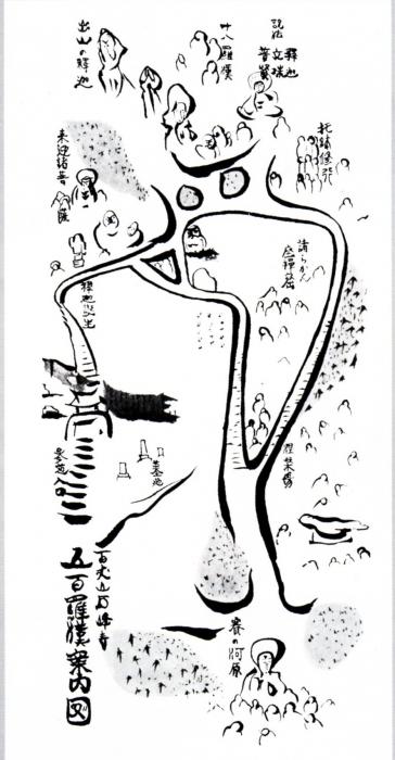 石峰寺羅漢配置図