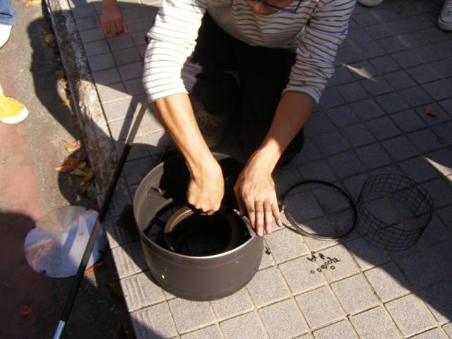 煙突トップ掃除