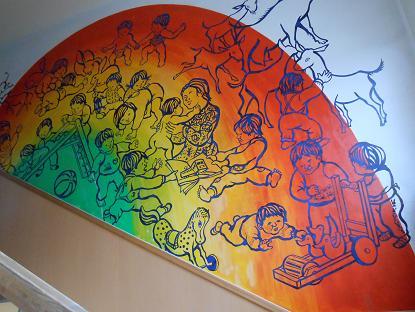 階段の壁面