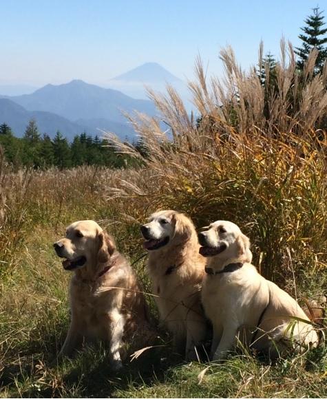富士山といっしょにパチリ
