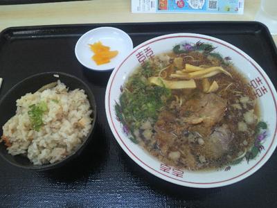 鞆の浦ラーメン鯛丸で鯛飯定食