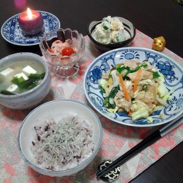 麩チャンプルーの晩ごはん2