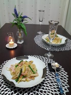 筍とアスパラのパスタ