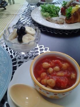 ひよこ豆のトマト煮